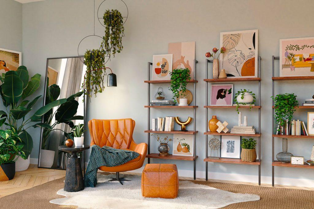 Erneuern Sie Ihr Wohnzimmer mit einem Decluttering: Werden Sie das Überflüssige los und gestalten Sie das Bücherregal neu