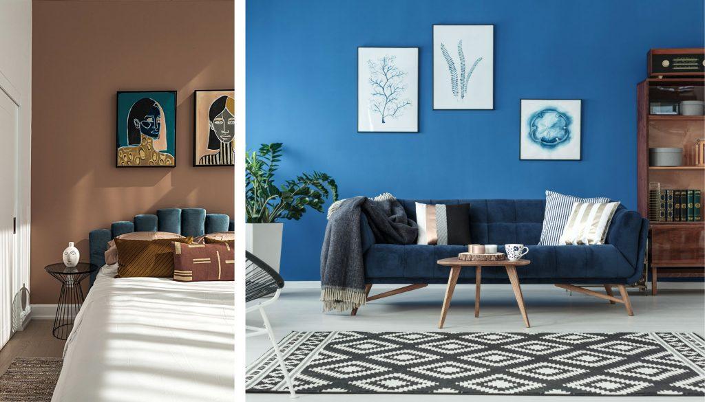 So erneuern Sie Ihr Zuhause mit Farbe die Wände streichen